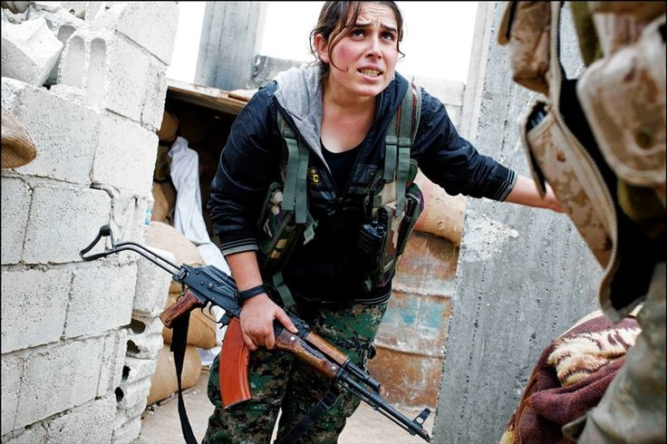 A commander for the Women's Protection Unit, a Kurdish female militia that is fighting Islamic...: