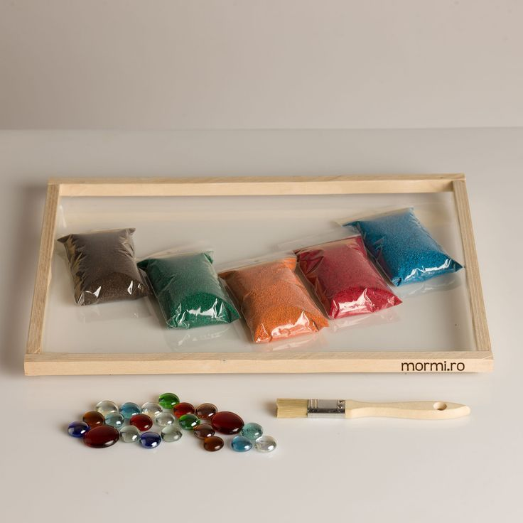 Sand Tray with coloured sand. Works as a stand alone or as accessory for the Light Box. The light enhances the experience of playing with the sand.  #sand #play #relaxation #colours #
