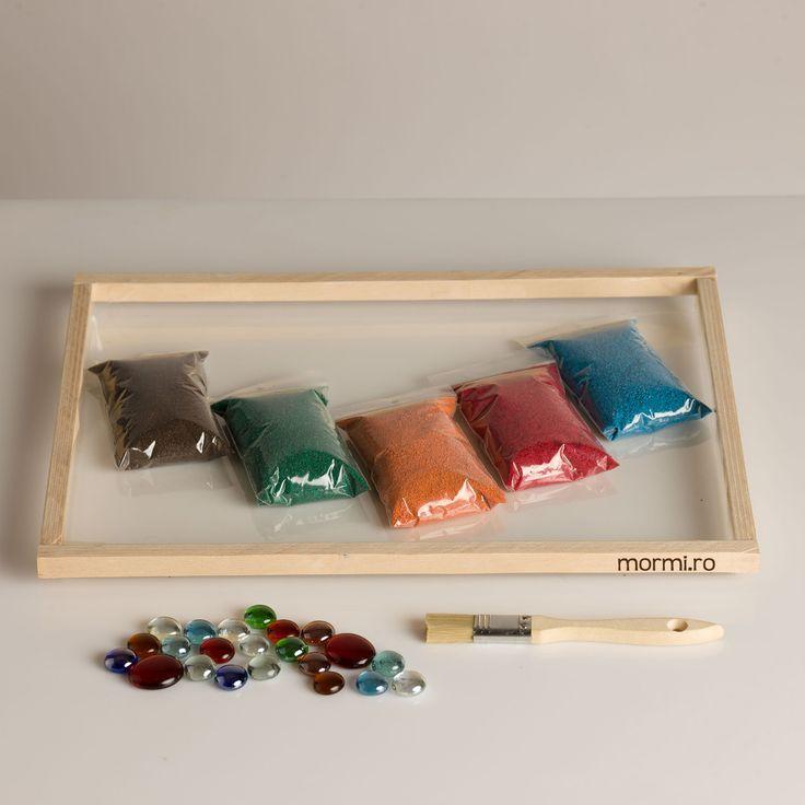 Tava cu nisip colorat