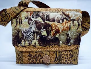 BaRb'n'ShEll Creations-African animal satchel - BaRb
