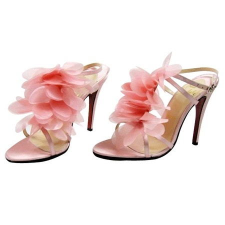 Christian city louboutin pink ruffle sex shoes