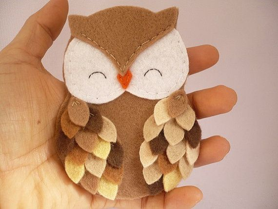 Personalized owl ornament felt owl ornament felt by ynelcas