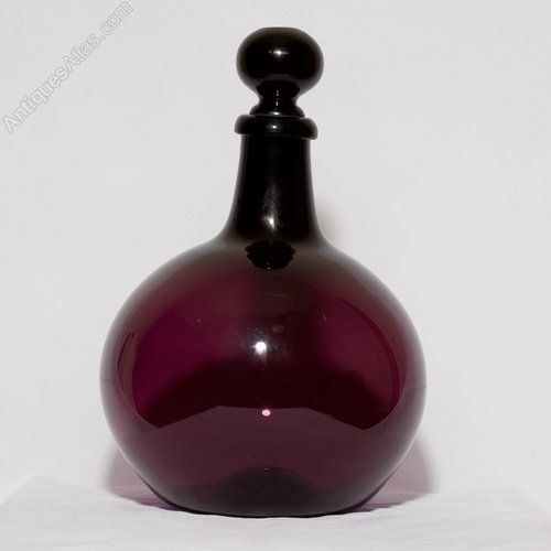 Antiques Atlas - 19thC. Amethyst Glass Apothecary Carboy