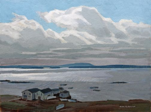 Alan Collier - Ships Cove Northern Peninsula Newfoundland 12 x 16 Oil on board (1989)