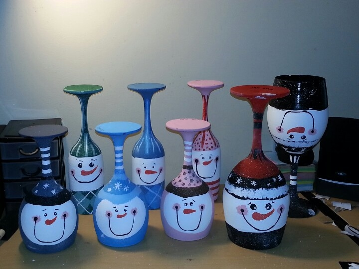 66 best Wine glass Candle stick holders images on Pinterest ...
