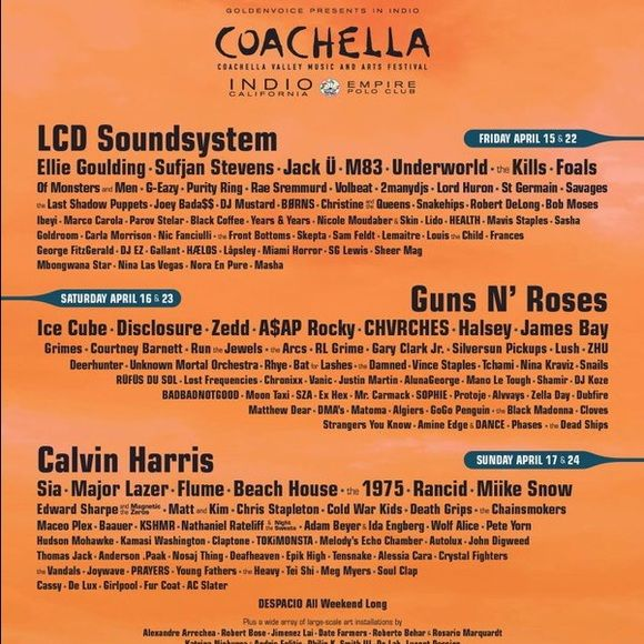 2 Coachella 2016 Weekend 1 Passes. 2 Coachella 2016 Weekend 1 Passes. Bought them in advanced sale and actually looking for weekend 2 tickets now. Want to sell them for 450-500 each. Please inquire below in a message. Thank you!  Coachella Other