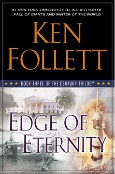 Edge of eternity by Ken Follett ---- East German teacher Rebecca Hoffman discovers she's been spied on by the Stasi for years and commits an impulsive act that will affect her family for the rest of their lives. George Jakes, the child of a mixed-race couple, bypasses a corporate law career to join Robert F. Kennedy's Justice Department, and finds himself in the middle not only of the seminal events of the civil rights battle, but a much more personal battle of his own. (Oct)