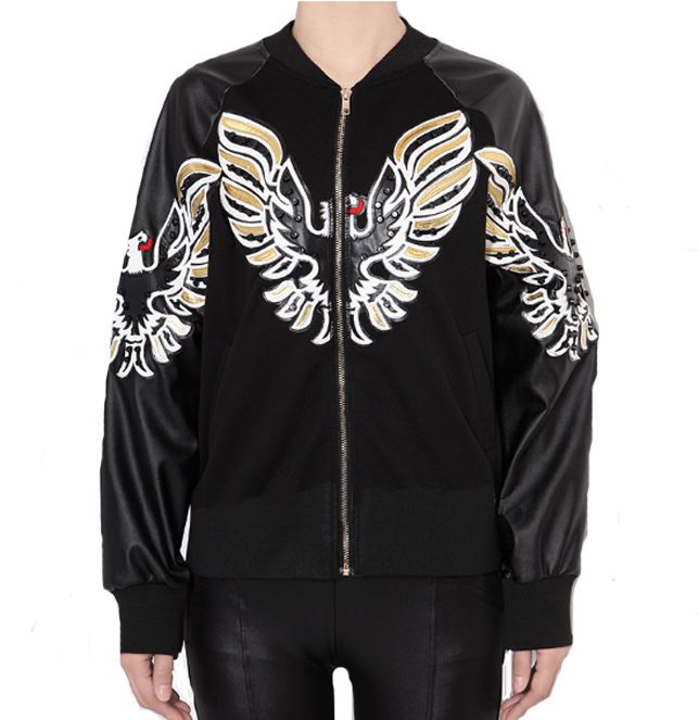 Own this unique and very stylish Eagle Bomber Jacket made from Polyester and Faux Leather. Unisex Jacket its perfect for the Winter time.