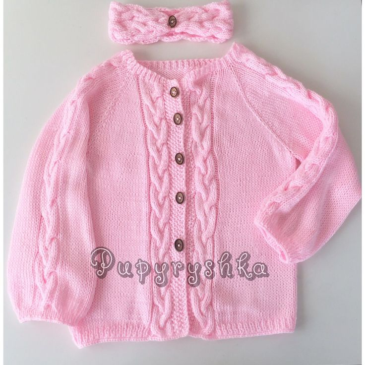 Купить Детский кардиган и повязка - свитер, свитер вязаный, свитер ручной работы, свитер для девочки