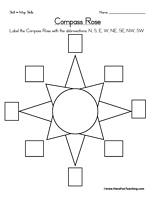Compass Rose Worksheet - The Rag Coat