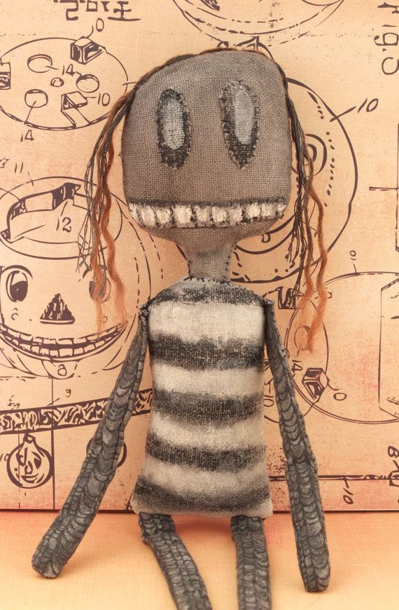 Creepy Monster Doll Primitive Art Doll  Sophie