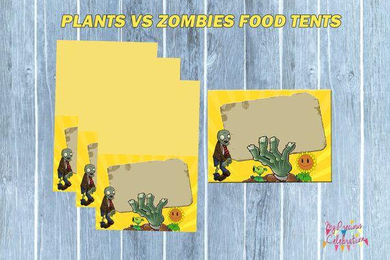 PLANTS vs ZOMBIES Food TENTS  Plants vs by PreciousCelebration, $5.50