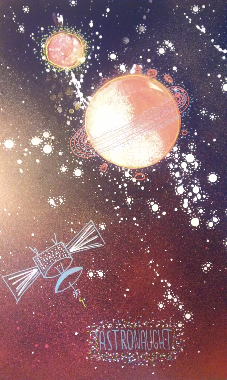 Space painting #painting #spray