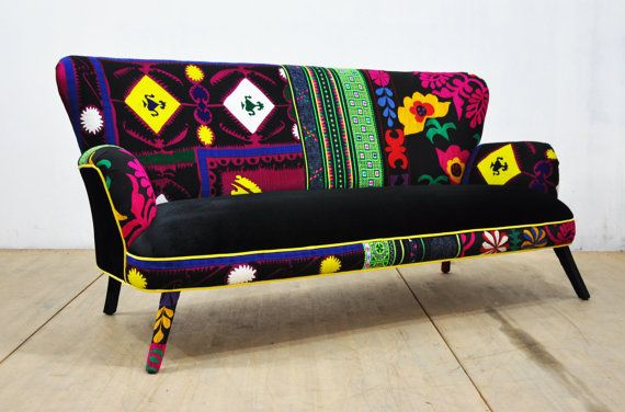 Patchwork Sofa - black passion