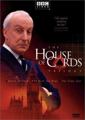 The House of Cards Trilogy (House of Cards, To Play the King & The Final Cut) by Michael Dobbs are brilliant political thrillers. Love all the political machinations and FU is so thoroughly Machiavellian he's delicious!