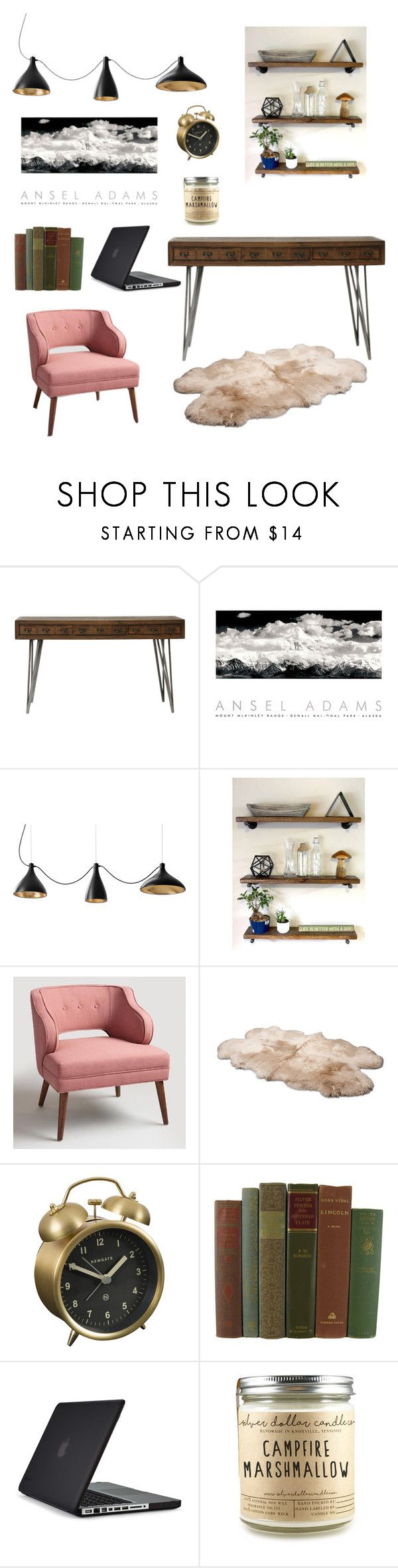 """""""Home Office"""" by shelbeylynngrace ❤ liked on Polyvore featuring interior, interiors, interior design, home, home decor, interior decorating, Moe's, Cost Plus World Market, UGG Australia and Newgate"""