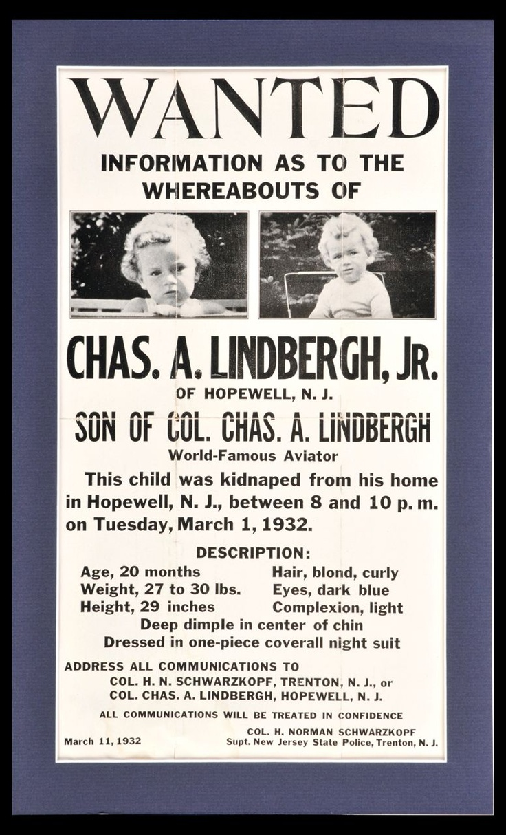 charles a lindbergh jr kidnapping essay the lindbergh kidnapping-on march 1, 1932, charles lindbergh jr, the 20-month-old son of the famous aviator, was kidnapped, and although a ransom of $50,000 was paid, the child was never returned.