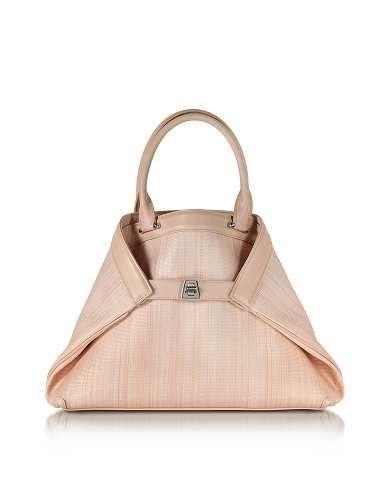 Prezzi e Sconti: Ai #small shopper in pelle e crine rosa cipria  ad Euro 2290.00 in #Borse borse donna #Moda