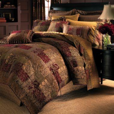 Croscill Clics Catalina Red 4 Pc Comforter Set Accessories Found At Comforterqueen