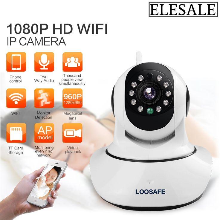 61.67$  Buy here - http://aligc9.worldwells.pw/go.php?t=32726526702 - HD 1080P IP Camera WIFI Camera Surveillance Camera 2 MP Baby Monitor Wireless P2P IP Camara PTZ Wifi Security Cam ELESALE 61.67$
