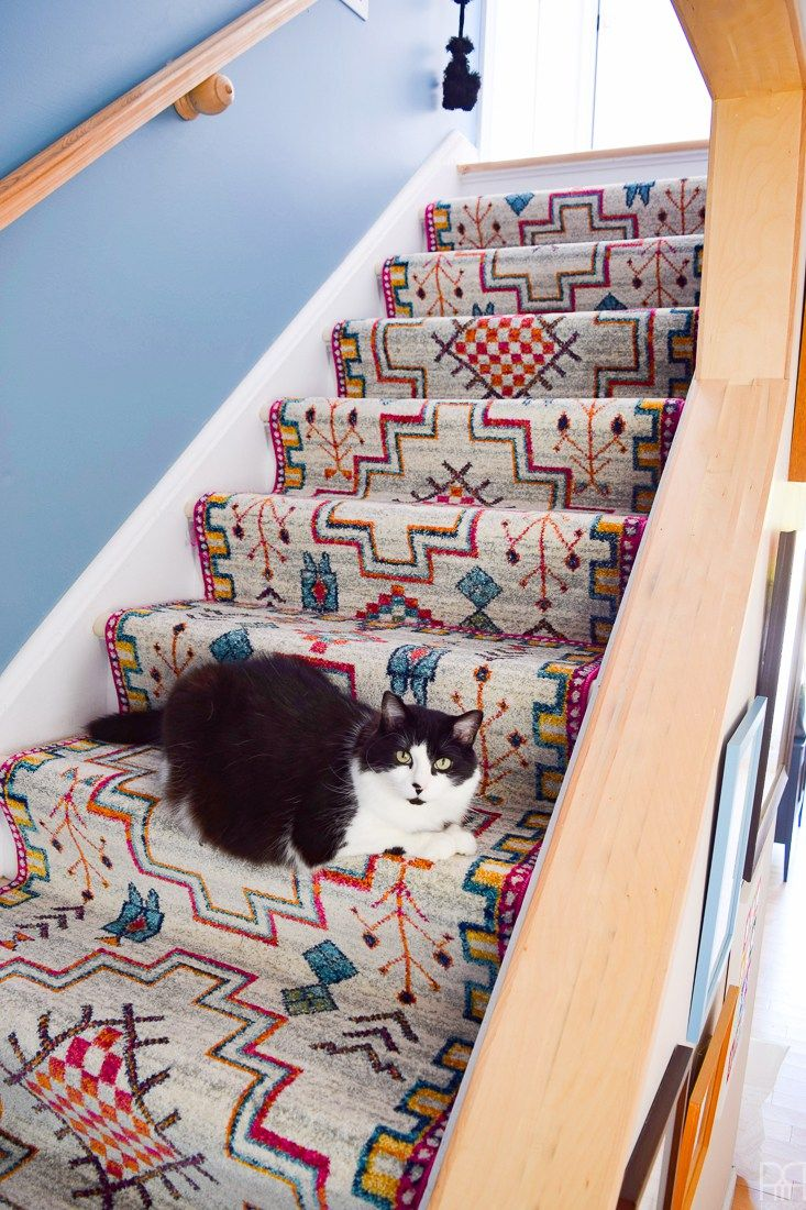 Using Runners From Rugs Usa I Gave Our Staircase A Makeover In Er Friendly Way Now Looks Like The Main Artery Colourful And Bold