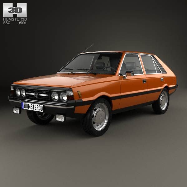 FSO Polonez 1978 3d model from humster3d.com. Price: $75