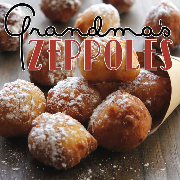 Grandma's Zeppoles! Similar to a funnel cake, and super delicious. These tasty bites are such a treat. #fritters #funnelcake #dessert