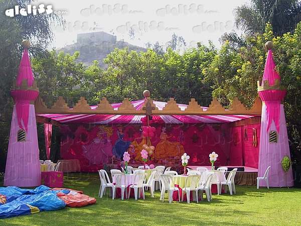 Pin decoraciones de princesas para fiestas infantiles en for Decoracion de princesas