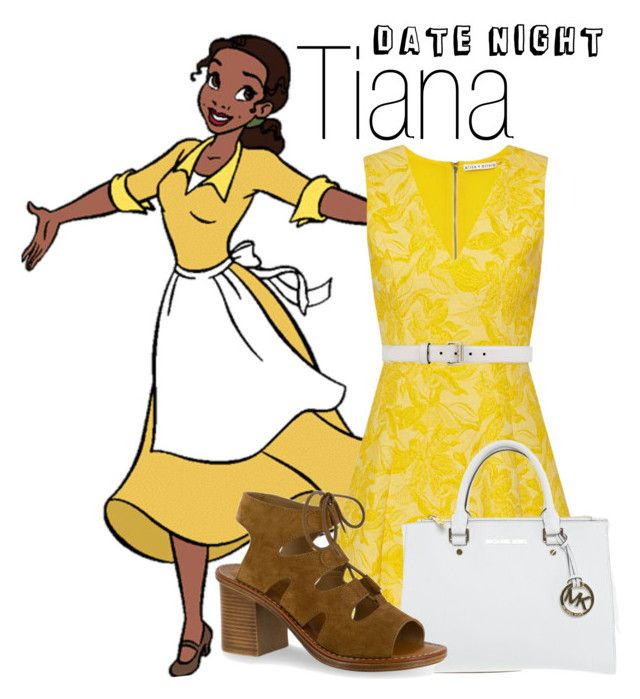 """Tiana~ DisneyBound"" by basic-disney ❤ liked on Polyvore featuring Alice + Olivia, Michael Kors, Bella-Vita and Gucci"