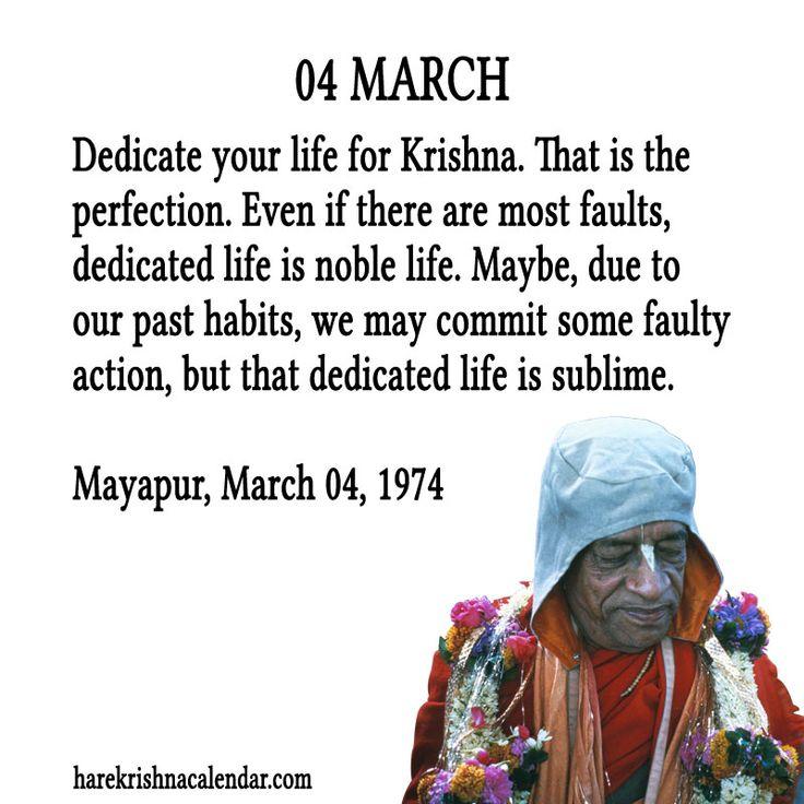 Follow Srila Prabhupada's example.