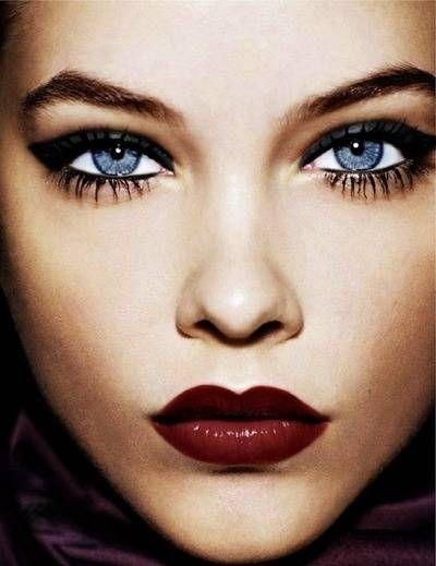 Dominique Taylor: ? A Beauty ? #Lockerz: Face, Make Up, Red Lips, Barbara Palvis, Beauty, Hair, Eyes, Makeup Idea