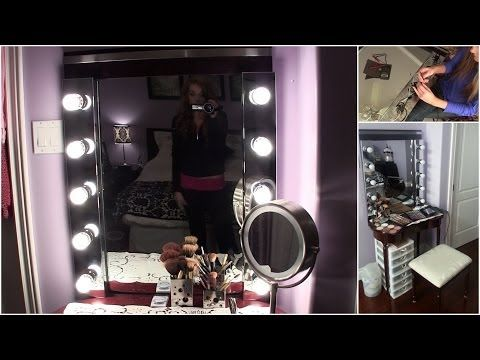 DIY: Build your own Hollywood Vanity Mirror! EASY & AFFORDABLE - YouTube