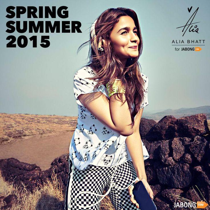 Alia Bhatt for @JabongIndia now out !!!! Spring summer 2015 !!!!! ;)