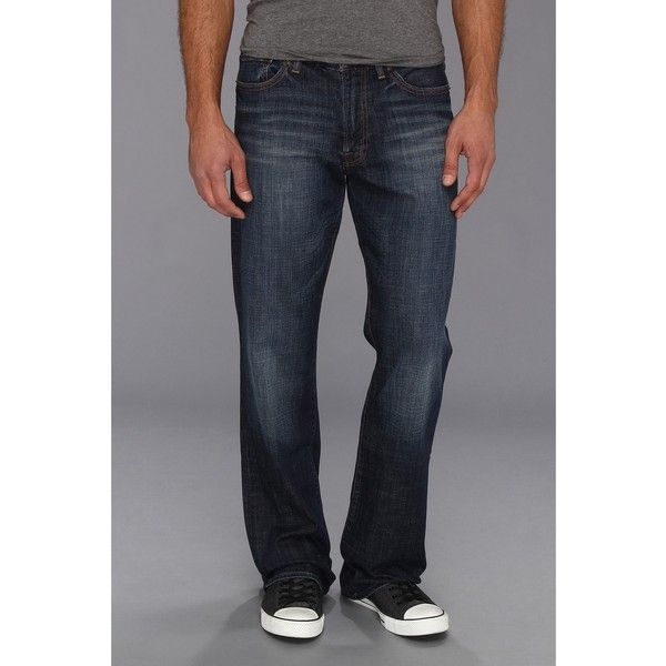 Lucky Brand 367 Vintage Boot in Riverneck (Riverneck) Men's Jeans ($90) ❤ liked on Polyvore featuring men's fashion, men's clothing, men's jeans, jeans, riverneck, mens slim fit bootcut jeans, mens vintage jeans, lucky brand mens jeans, mens faded jeans and mens bootcut jeans