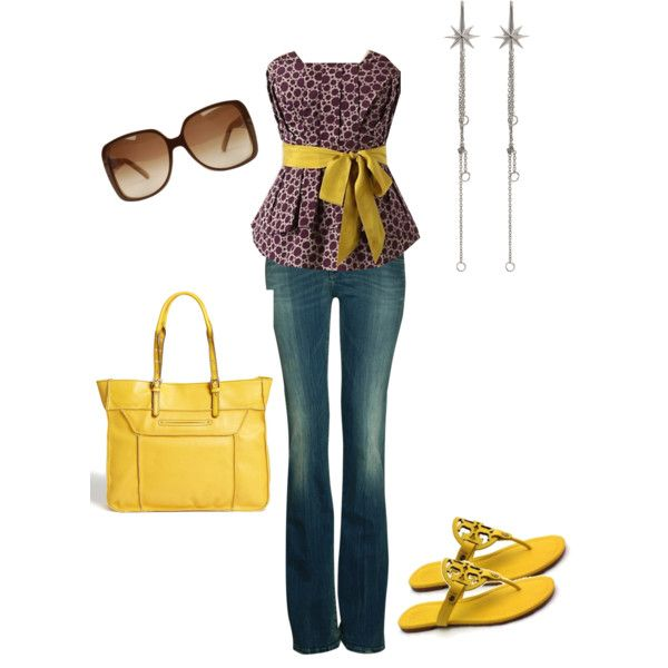 """""""Purple & Yellow Complementary Color Scheme"""" by dstewart05 on Polyvore"""