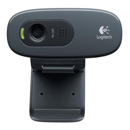 Logitech C270 (960-001063)  — 1390 руб. —  Крепление на дисплей ноутбука: Да, Программное обеспечение: в комплекте, Встроенный микрофон: 1, Разрешение матрицы: 0.9 МПикс, Фиксированный фокус: Да, Габаритные размеры (В*Ш*Г): 31*70*65 мм, Серия: HD Webcam, Крепление на ЖК монитор: Да, Цвет: серый/черный, Глубина: 65 мм, Модель: C270, Ширина: 70 мм, Высота: 31 мм, Индикация включения: Да, Минимальная дистанция съемки: от 40 см, Качество видеосъемки: 1280x720 Пикс (HD), Работа под Windows: XP…