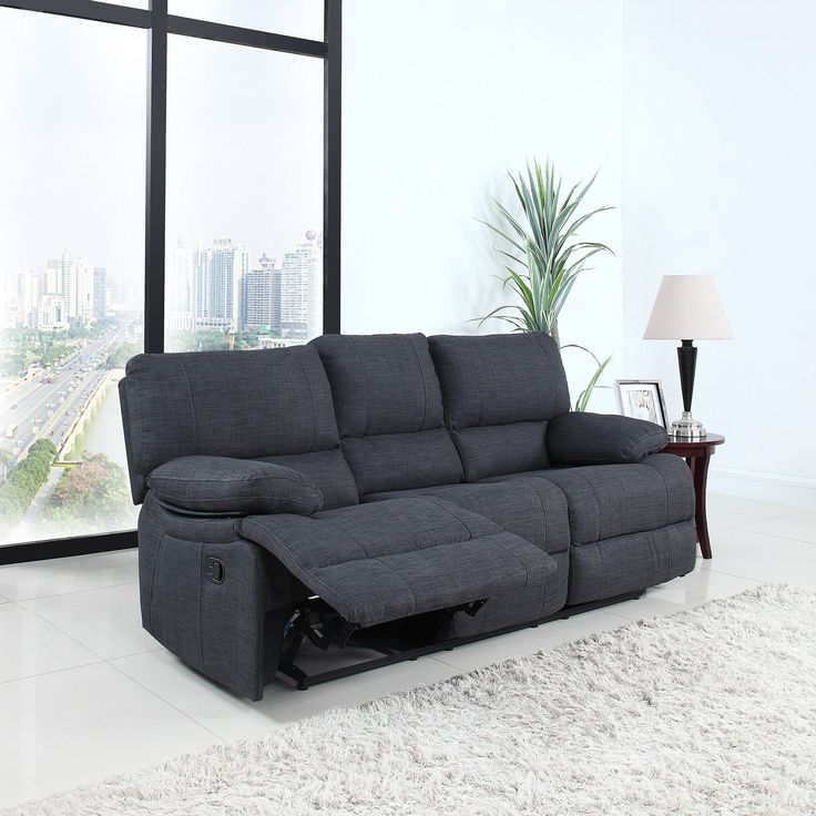 Classic and Traditional Dark Grey Fabric Oversize Recliner Chair Love Seat and Sofa (3 Seater). Classic style oversize and overstuffed reclining sofa. & Best 25+ Oversized recliner ideas on Pinterest | Bedroom armchair ... islam-shia.org