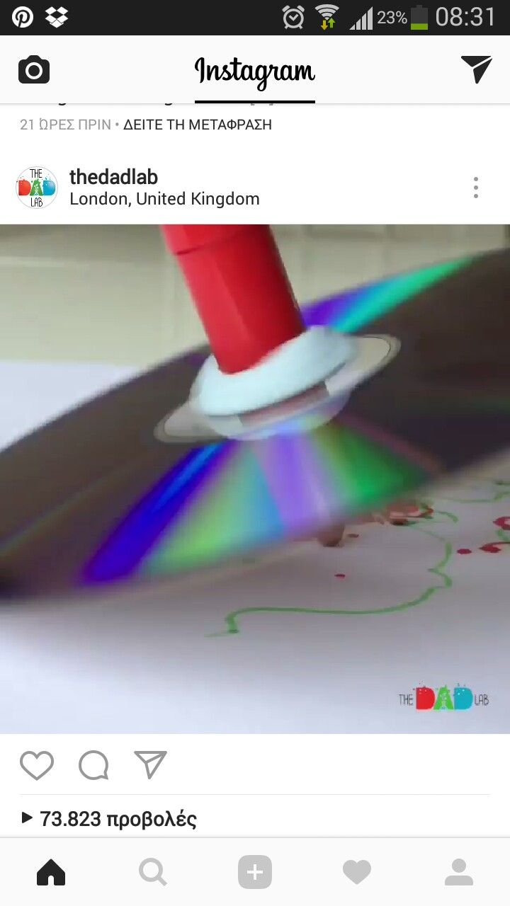 Drawing with cd