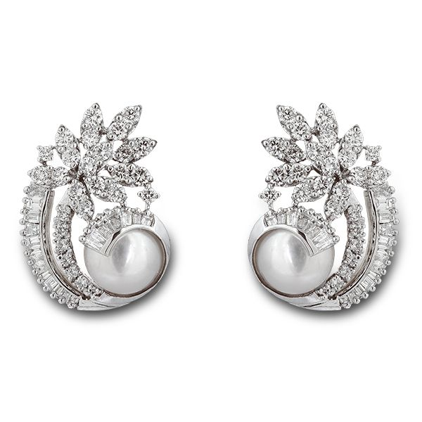 Shobha Asar - Pearl and Diamond Earrings