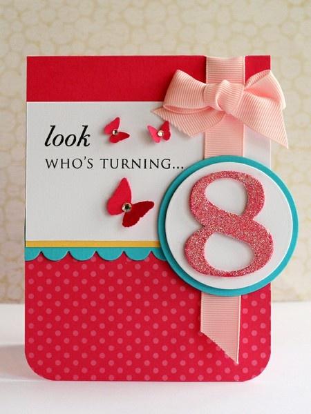 Cute birthday # cardCards Design, Wedding Cards, Cards Ideas, Kids Cards, Birthdays, Birthday Cards, Dr. Who, Girls Birthday, Bright Colors