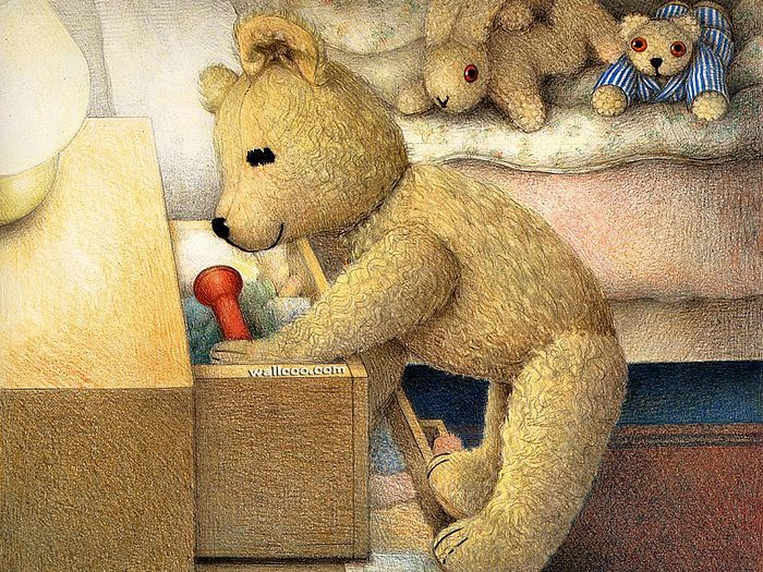 Jane Hissey : Hoot, Lovely Stuffed Animals  - Little Old Bear - Heartwarming illustrations of Teddy Bear 7