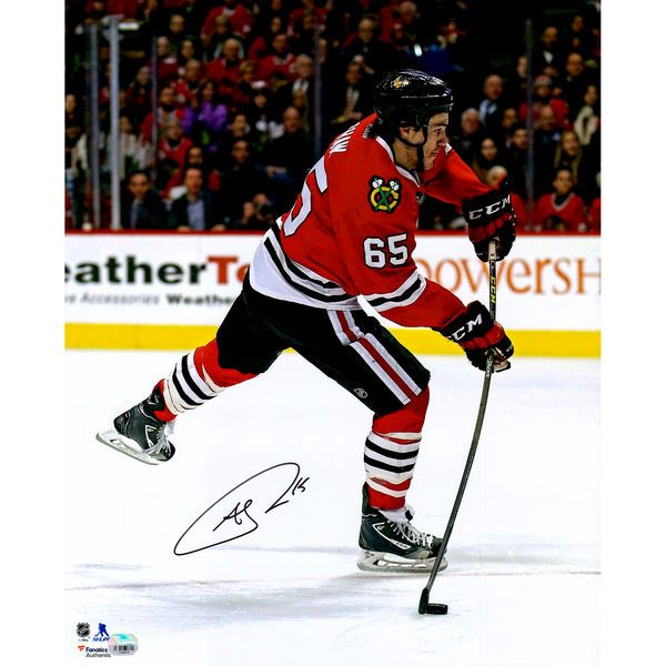 """Andrew Shaw Chicago Blackhawks Fanatics Authentic Autographed 16"""" x 20"""" Red Jersey Shooting Photograph - $59.99"""