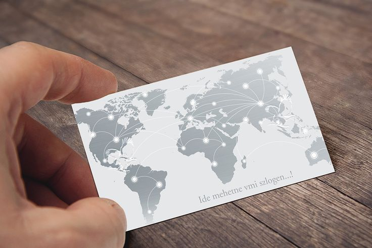 Business Card Back - New Version with Silver Map
