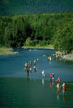 Bird Creek Salmon Fishing outside of Anchorage, Alaska. so ... Fish X Anchorage