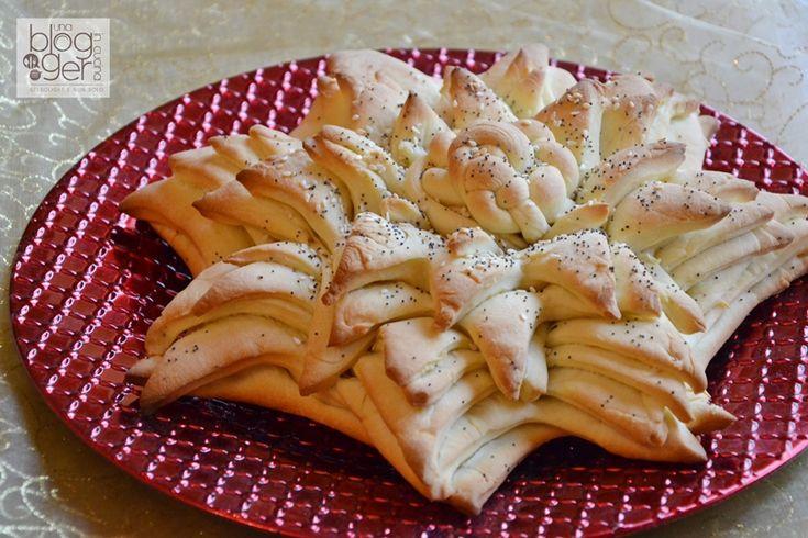Stella di pane, una decorazione per la tavola di Natale e capodanno ottima anche da servire con salumi e formaggi, per un centrotavola di verso dal solito.