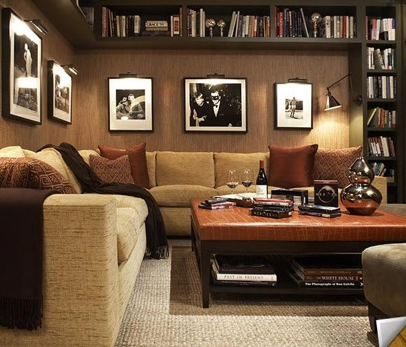 Basement Decorating Ideas For Men: 17 Best Images About Masculine Rooms On Pinterest