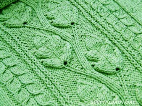 Вязание Листочка Спицами - узоры - 2016 / Knitting spokes leaf / Stricken Speichen Blatt - YouTube
