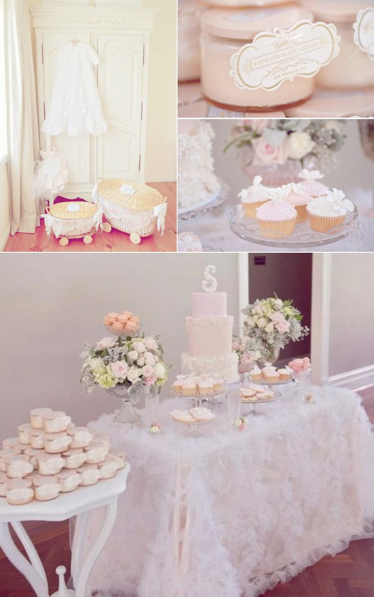25 best ideas about christening party on pinterest for Baby girl christening decoration ideas