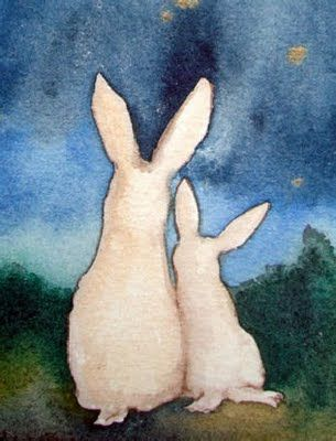 inspiration - bunny shapes - - - Star Gazing by Nakisha Elsje VanderHoeven