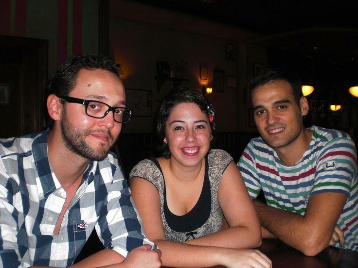 Con mis amigos Patricia Simons y Dani Saura.